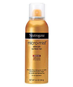 Neutrogena Micro Mist Airbrush Sunless Tan | Get sun-kissed with a streak-less, slow glow-builder.