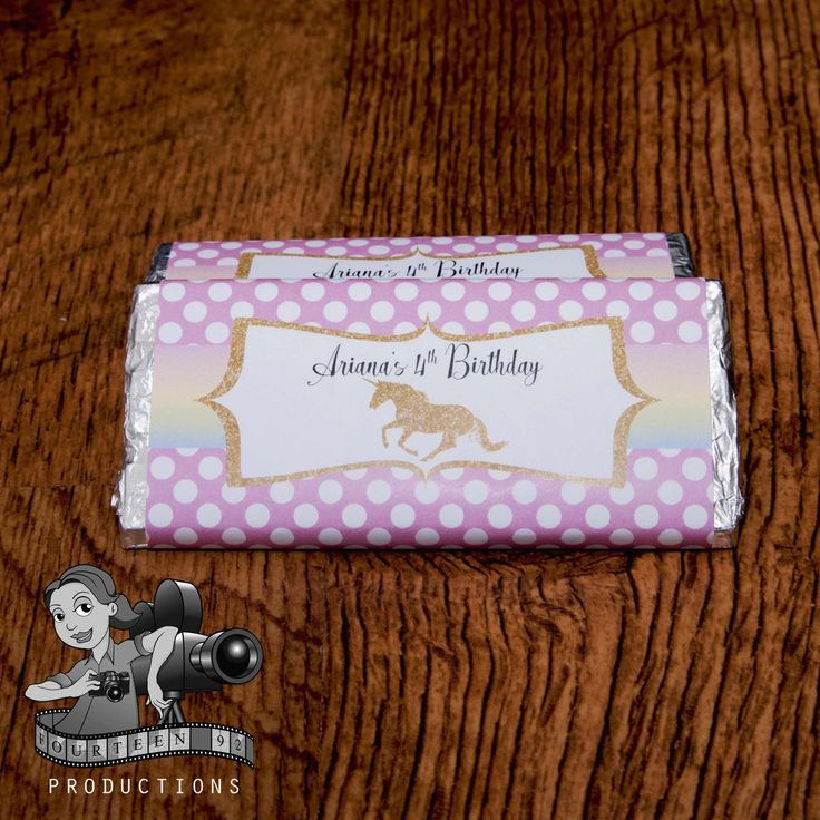 Unicorn Chocolate Wrapper by fourteen92prod on Etsy https://www.etsy.com/au/listing/509866903/unicorn-chocolate-wrapper