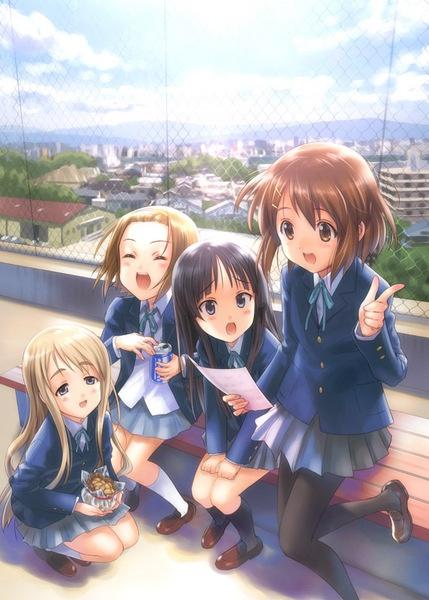 Yui,Mio,Ritsu,and Tsumugi