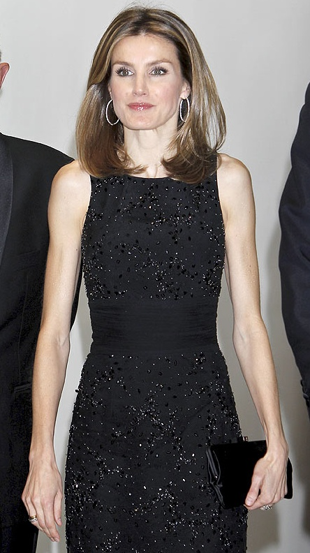 Letizia looking sophisticated in black.