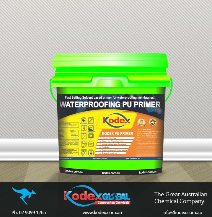 Now waterproof your asbestos sheeting, metals, blockwork, concrete, clipboard with a best moisture curing polyurethane primer, Kodex PU Primer. It comes with an excellent binding capability for weak surfaces and fast setting properties. For more details, follow the link below: http://www.kodex.com.au/wp-content/uploads/2015/02/Kodex-PU-primer.pdf  #Waterproofing #WaterproofingMembrane #WaterproofingPrimer #Primer #WaterproofingProducts