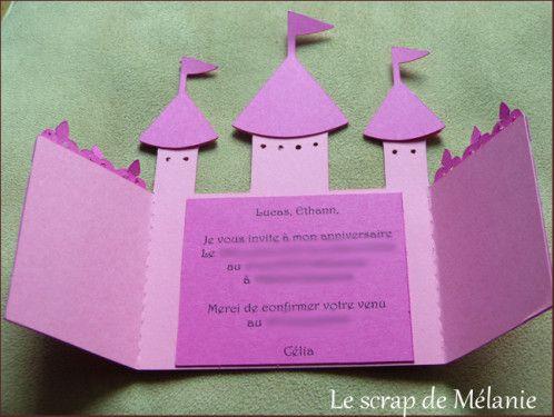 Carte invitation anniversaire ch teau decoraci n princess birthday princess party - Image de chateau a imprimer ...