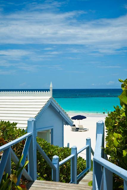 Pink Sands Resort - Harbour Island Bahamas. Sand has a pinkish hue from coral.
