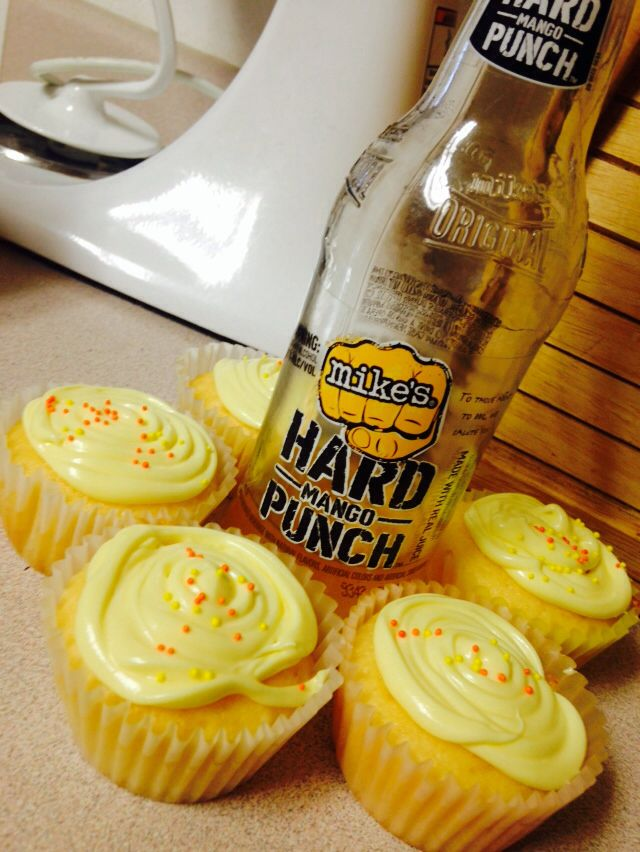 Mike's Hard Cupcakes  What you need: White cake mix 1 bottle of your favorite Mike's Hard flavor Lemonade mix (compliment with your Mike's flavor)  Lemon or whipped frosting   Cake: Follow directions on cake box but substitute water with your Mike's Hard Lemonade (usually 1 cup). Bake at 350 for 20 minutes. Let cool for 10 minutes before removing from pan.  Super Sour Frosting: Mix lemonade mix with frosting. Add 2 tsp of your Mike's Hard Lemonade also.