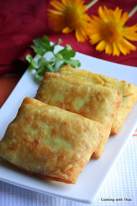 Fried Coconut Crepes with Chicken Filling- Chicken Crepes | Cooking with Thas
