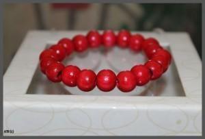 Round Red Bead Bracelet