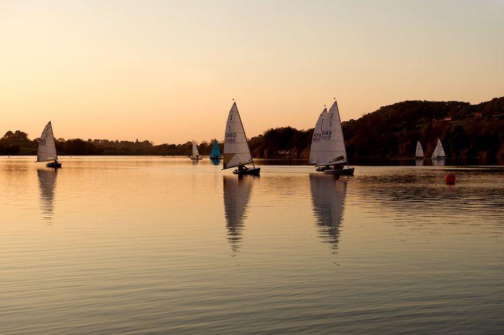 Sailing at Rudyard Lake, Staffordshire