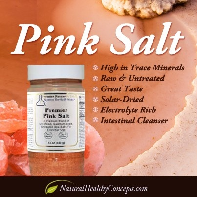 Pink Salt by Premier Research Labs is from ancient Mediterranean & Hawaiian Alaea sea beds. It's raw, tasty, has many health benefits & a 5-star rating! You have to try some!