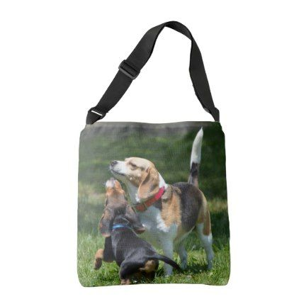 #Adorable Beagle Puppy and Mom Crossbody Bag - #beagle #puppy #beagles #dog #dogs #pet #pets