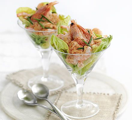 This classic retro starter packed with juicy prawns will never go out of fashion