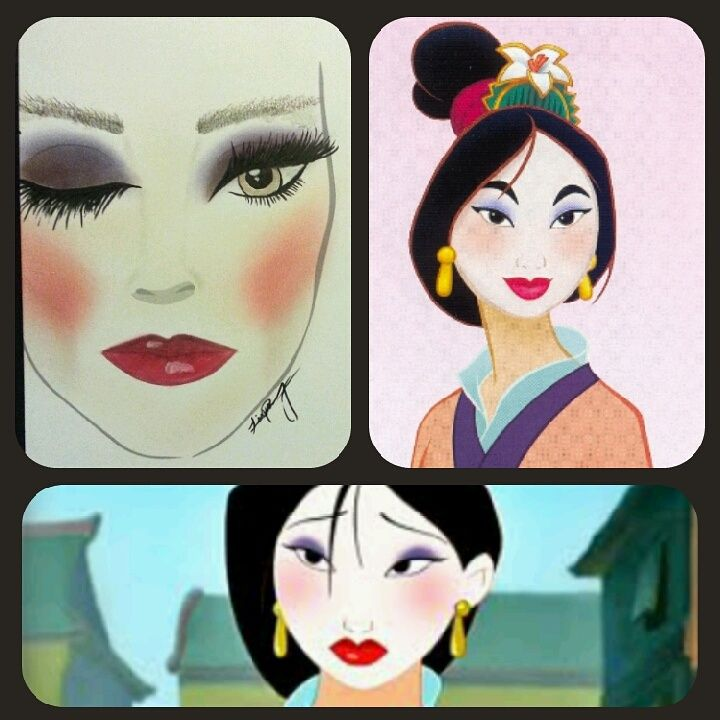Female Disney Characters makeup look series... Mulan from MULAN
