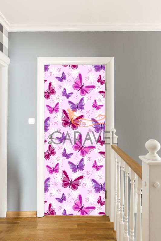 Παιδικό Αυτοκόλλητο Πόρτας με πεταλούδες