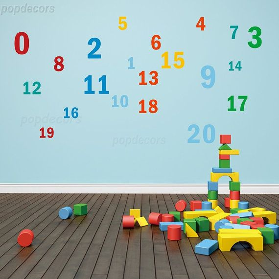 Kids Wall Decal, Playroom Wall Decal, Nursery Wall Decal, Baby Wall Decal    Nursery 123  Playroom Kids Children Love Pt0282