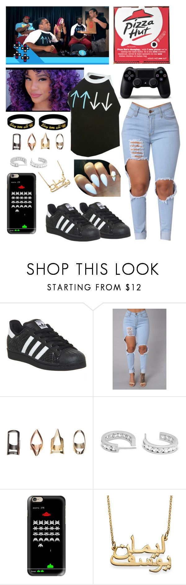 """ Brittany UpUpDownDown with Dolph Ziggler, Big E langston, Kofi Kingston and Austin Creed ( Xavier Woods )"" by queenofwrestling ❤ liked on Polyvore featuring adidas and Casetify"