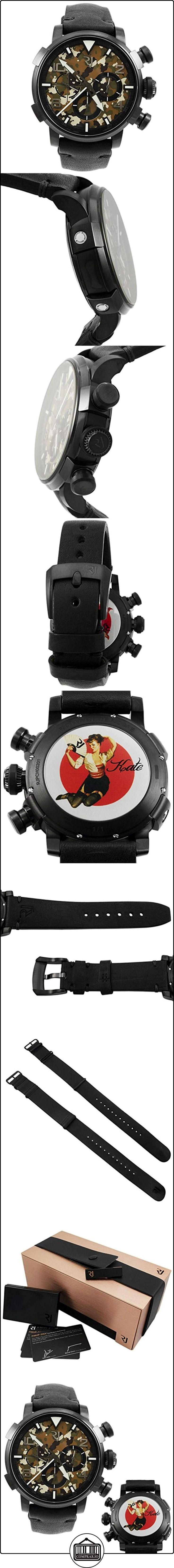 Romain Jerome Pinup ADN negro WWII Kate Ventilador Cronógrafo Automático de los hombres reloj RJ. P. CH. 002.01 de  ✿ Relojes para hombre - (Lujo) ✿