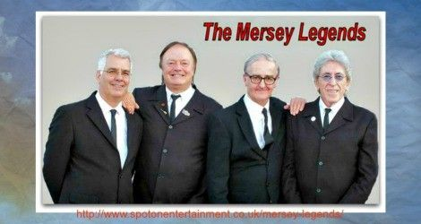 Mersey Legends 60s party band UK fantastic sounds of artistes, solo acts Liverpool during '63 / '64 era Beatles, Gerry and Pacemakers, Searchers