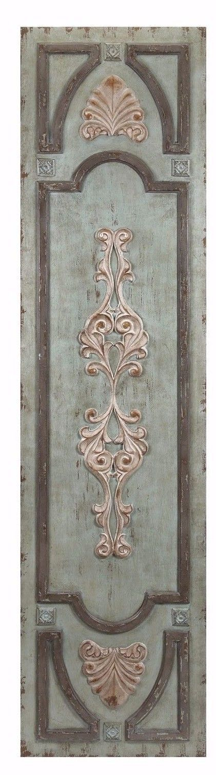 Give your living space a rustic feel by adding this charming door inspired wood wall art. With its raised molding and distressed metal accents, the door panel looks as if it were salvaged from a historic building. | eBay!