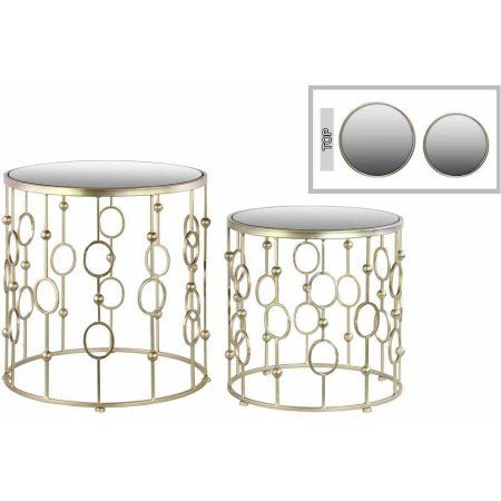 Urban Trends Collection: Metal Table, Metallic Finish, Champagne, Beige