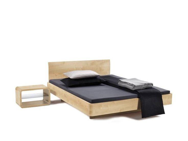 donkere houten frame bed - Google zoeken