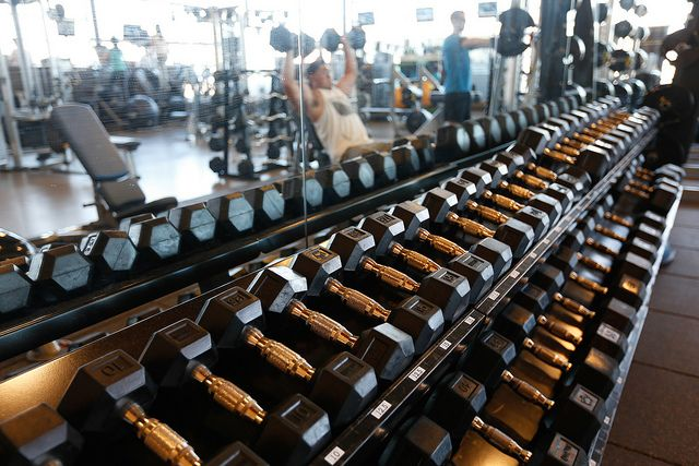 Free weights, lots of free weights! Check out the fitnes centre at Markham's Centennial Community Centre | Flickr - Photo Sharing!