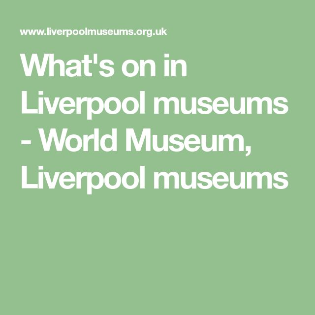 What's on in Liverpool museums - World Museum, Liverpool museums