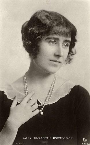 Lady ELizabeth Bowes Lyon (later Queen Elizabeth the Queen Mother)