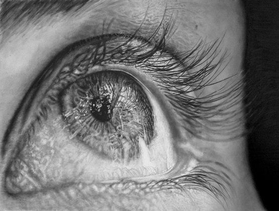 Jono dry eye photorealistic pencil illustrations