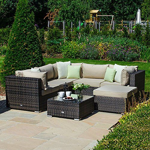 Magnificent Nova Outdoor Garden Furniture Chelsea Rattan Corner Sofa Set Ncnpc Chair Design For Home Ncnpcorg