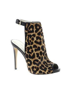 Karen Millen Animal Print Heeled Sandals