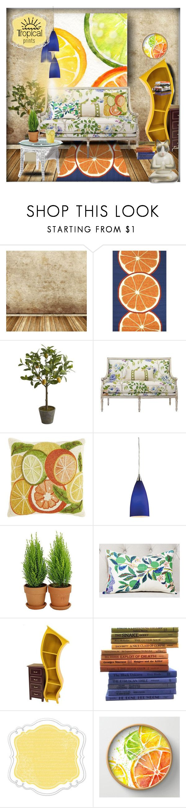 """""""Lemon room"""" by latinaconestilo ❤ liked on Polyvore featuring interior, interiors, interior design, home, home decor, interior decorating, Jaipur Living, Pier 1 Imports, Quality Ivy and Anna Sui"""
