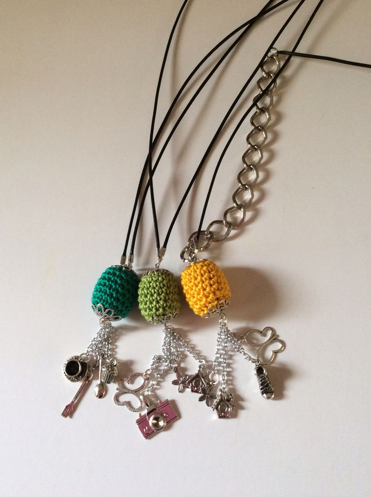 Green,green and yellow wooden beads