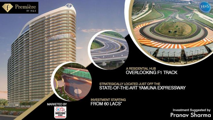 Overlooking the Formula1 Track, F-Premier is a 2 & 3 BHK luxurious residences project on Yamuna Expressway. Investment starts at 60 Lacs. Call at +91 9250401940 for more information.    #realestate #housing #luxury #Noida
