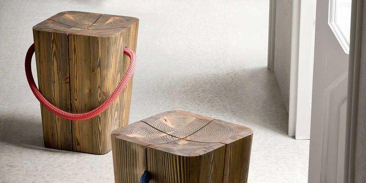 Hug | Wooden stool |Emo design
