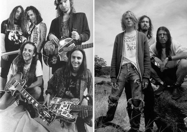 PERL JAM y NIRVANA. Una época marcada por la influencia musical, pero también por la moda como una forma de expresión. Nirvana ( con Kurt Cobain como cabeza del grupo muerto en 1994) fue uno de los mayores exponentes del GRUNGE. Quienes hicieron parte de este fenómeno musical, y nacieron entre 1961 y 1981 (también llamados la Generación X), vivieron la década de los 80 y 90 en su máximo esplendor, años en los que los sonidospunkse volvieron menos enérgicos, para dar paso a letras apáticas…
