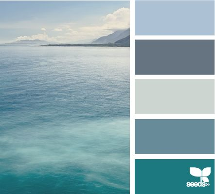 sea blues: Sea Theme Bedrooms Decor Ideas, Color Palettes, Design Seeds, Color Schemes, Blue Color, Color Pallets, Colour Theme For Bedrooms, Beaches Color, Beaches Theme Bedrooms Color