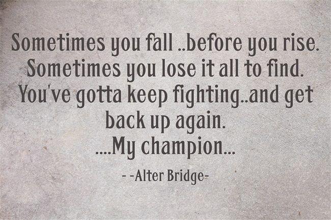 """My Champion""  by Alter Bridge lyrics"