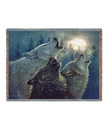 Look at this #zulilyfind! Howling Wolves Throw by Pure Country Weavers #zulilyfinds