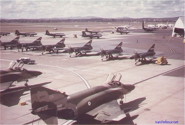 77Sqn Mirages in RAAF Amberley - Phantoms, Canberras, Caribou, Hercules, Iriquois & P-3B also visible.