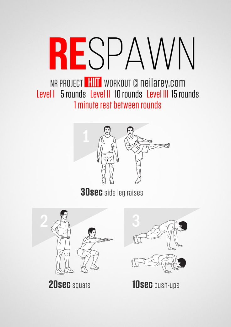 Instructions: Repeat each move for a given amount of time one after the other with no rest in between for a total of one minute, rest for exactly 1 minute and repeat it again 5, 10 or 15 times depending on your fitness level. Download High...