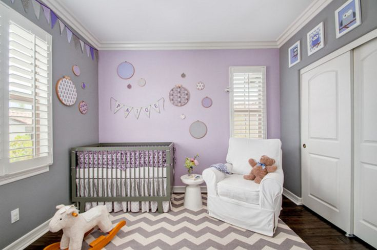 Lavender and Grey: Soft shades of these two colors can create an innocent and…