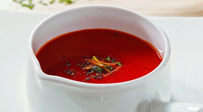 شوربة كريمة الطماطم من الشيف فتافيت Recipe Cooking Recipes Fatafeat