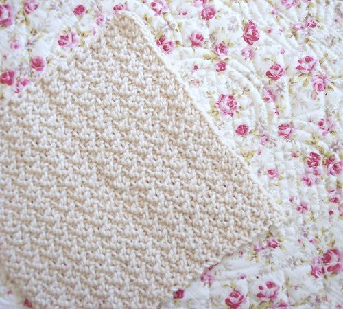 how to make a round dishcloth