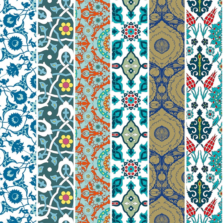 Turkish Designs Wrapping Paper...this would be pretty in a frame with cutout initial