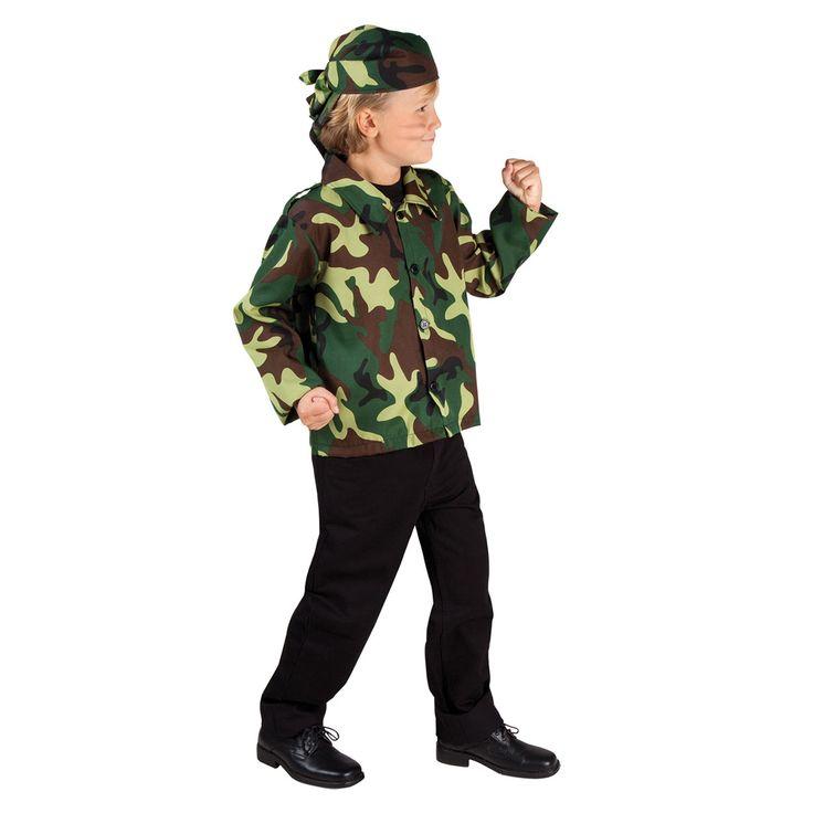 Met dit stoere kinderkostuum ben jij een echte soldaat!