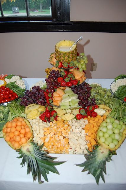 Cook! Create! Consume! fruit platter, vegetable platter, wedding table centerpiece.  edible centerpieces