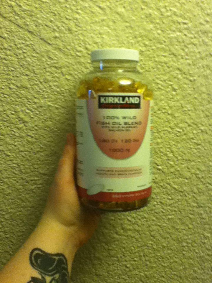 Kirkland signature 100 wild fish oil blend EPA DHA omegas