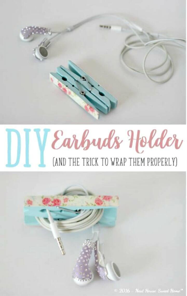 15 Diy Earbud Holder Ideas To Easily Hold Your Earphones Diy