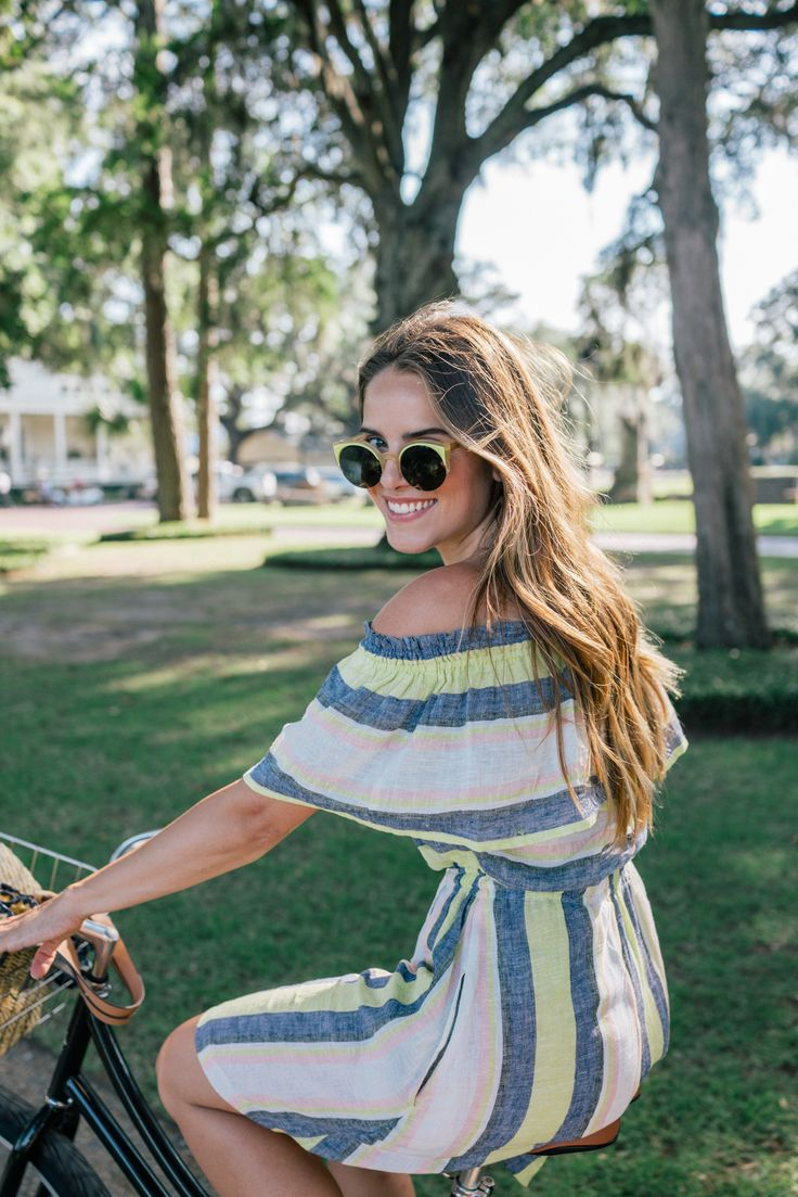 Gal Meets Glam A Southern Summer LOFT dress, c/o and Super Sunglasses