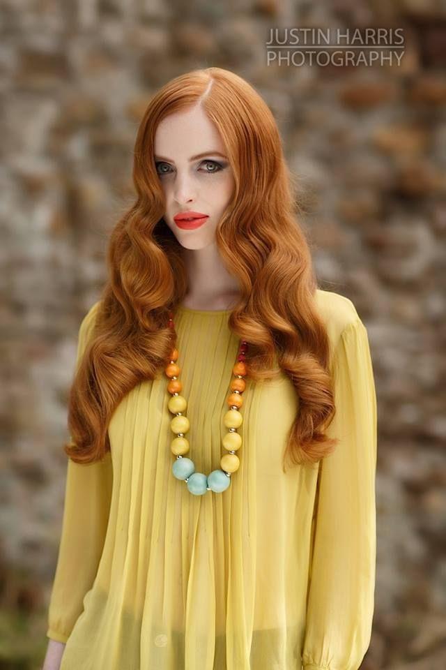 ©2013 JustinHarrisPhotography.co.uk Zingy orange lips to complement her beautiful porcelain skin & auburn hair #makeup #editorial #model #FarhanaHennaMUA www.farhana.co.uk