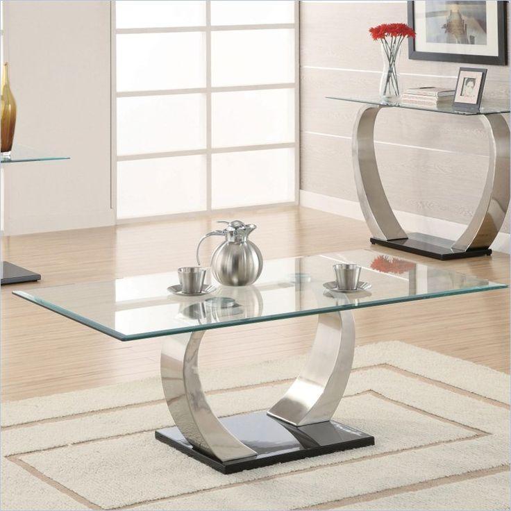 Coaster Shearwater Coffee Table In Satin Metal